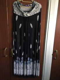Black & White Maxi Dress XL