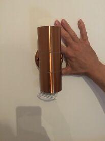 Brand new Sabrebeam outdoor light, Light Copper