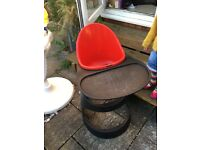 Ikea leopard red/black high chair