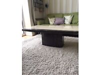 Marble/Onyx Effect Heavy Stone Coffee Table