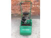 Qualcast Classic 14s Petrol cylinder Lawnmower with grassbox