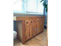 Oak Furniture Land Mantis Light Natural Solid Mango Sideboard