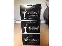 6 x Brand New Dartington Martini Glasses For Sale