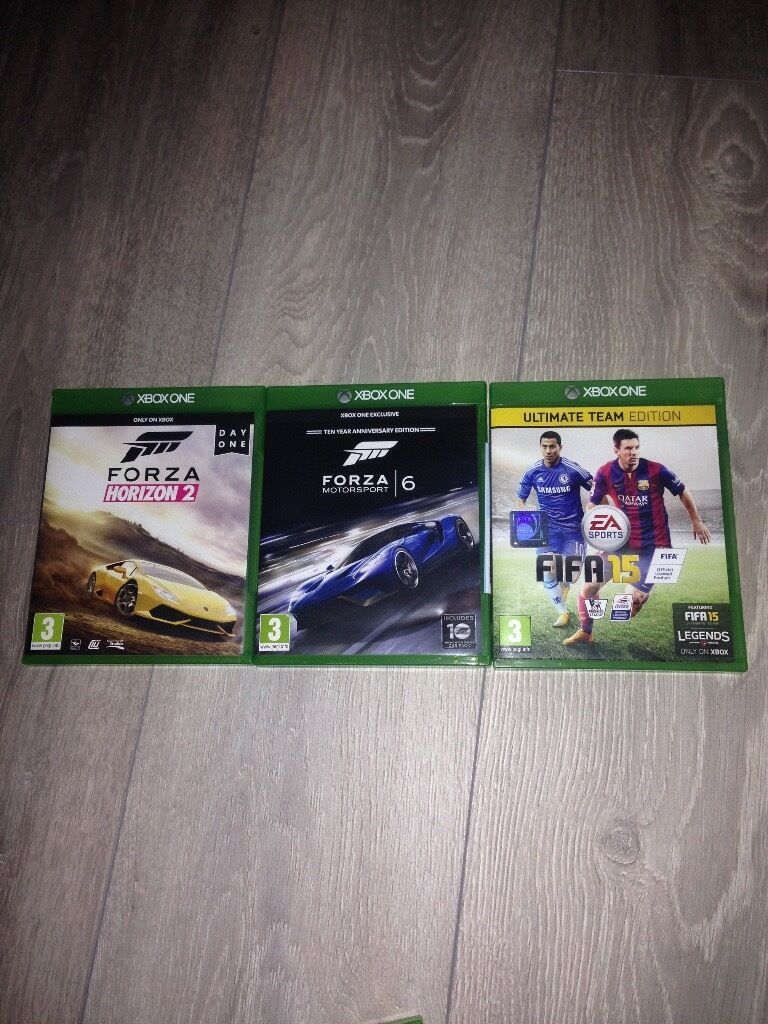 3 Xbox one games Forza 6, Forza horizon 2, Fifa 15