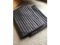 Pair grey cushion covers