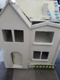 Wooden Dolls House in need of decorating