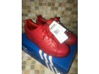 Adidas superstars red size 6.5 mens