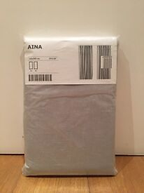 Pale Grey Linen Curtains - BRAND NEW, UNOPENED