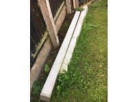 8 feet concrete posts x 3