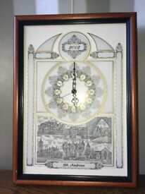 Wall clock. St Andrews, Scotland. Limited edition.