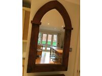 Large wood frame mirror