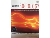 AS level Sociology Guide. for sale  Wiltshire