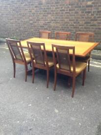 Vintage G plan dining table and 6 chairs mid century retro
