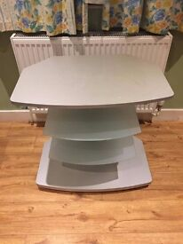 "Frosted Glass TV Stand For upto 30"" (Barely Used)"