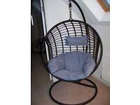 swing seat polyrattan pod style