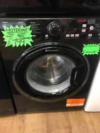 HOTPOINT 9KG DIGITAL TIMER SCREEN NEW MODEL WASHING MACHINE IN BLACK