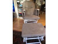 MATERNITY NURSING CHAIR AND FOOTSTOOL