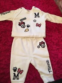 Girls next Minnie Mouse tracksuit, 3 - 6 months