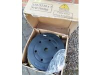 10KG VINYL WEIGHT PLATES * * BRAND NEW - BOXED