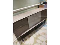 Vintage sideboard 50,s 60's unusual grey Formica good condition