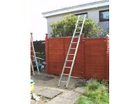 Aluminium ladder. Heavy duty. 12ft. long x 14ins wide. In v.good condition.