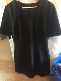 Topshop tall black dress in size 12