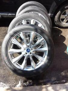 BRAND NEW TAKE OFF 2017 FORD EDGE 20 INCH ALLOY WHEELS WITH HIGH PERFORMANCE HANKOOK 245 / 50 / 20 ALL SEASONS
