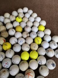 110 used golf balls range of different makes
