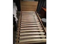 Single bed from John Lewis.