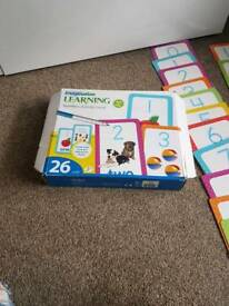 Learning number activity cards