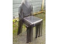 Kartell ghost chair x 4