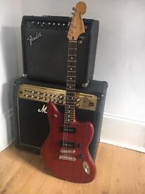 Fender Jaguar Modern Player - Transparent Red