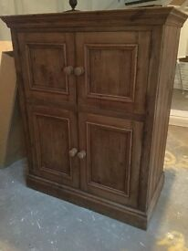 Solid pine cabinet suitable for multiple uses