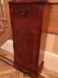 Yew wood traditional CD storage unit