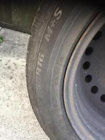 4 x WINTER tyre on steel rims from Ford Focus