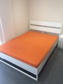 For sale king size bed and mattress.