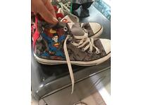Converse superman hi tops size 6