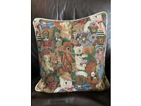 Teddy Bear Tapestry Cushion Cover