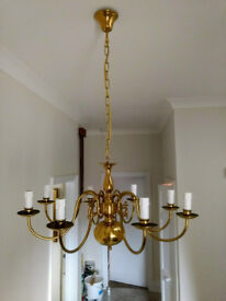 Brass Chandelier Light Fitting