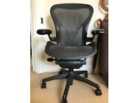 Herman Miller Aeron office chair, size B, postureFit support, all options, rrp over £1000
