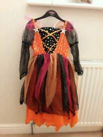 Girls Halloween dress age 6 in good condition