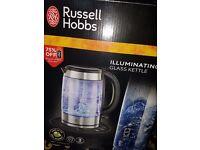 illuminating glass kettle