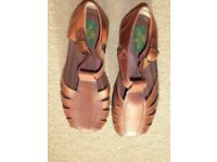 Clifford James BRAND NEW brown mens leather sandals. Size 10