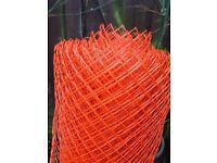 Plastic orange fencing 50 meters length X 1 meter high.