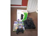 Xbox 360 250 gb with games