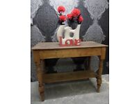 Beautiful Vintage Rustic Pine Console Side Dressing Table - Possible delivery