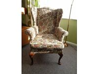 Vintage Parker Knoll Wing-back Armchair