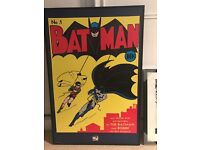 2 x Retro & Modern Batman & Robin Posters Framed Pictures