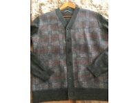 J.Lindeberg designer men's wool cardigan