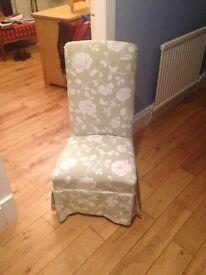 Small Linen nursing chair